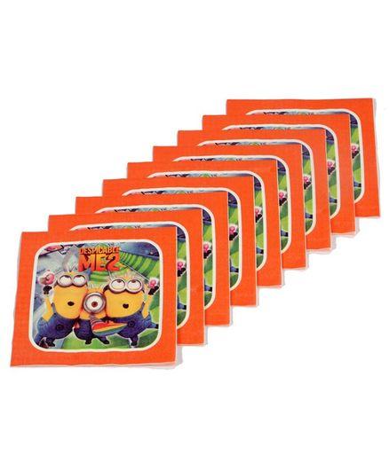 Funcart Despicable 2 Theme Virgin Wood Pulp Napkins Orange - Pack of 9
