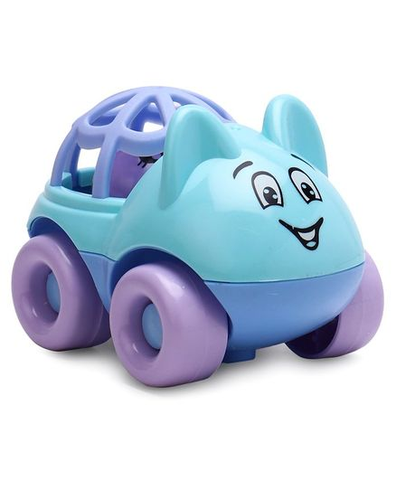 Baby Car Shaped Rattle - Sky Blue