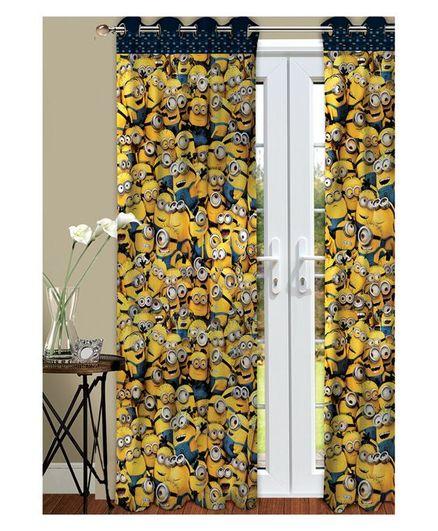 Athom Trendz Minions Kids Door Curtain Pack of 2 - Yellow