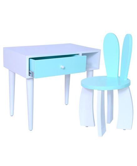 Spaces by Sonam Rhys Study Table & Chair Set - Blue