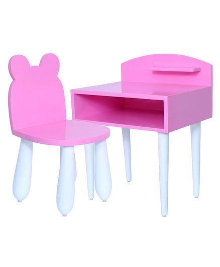 Spaces by Sonam Jax Study Table & Chair Set - Pink