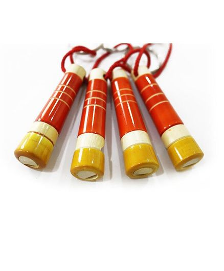 Aatike Wooden Whistle Red - Pack of 4