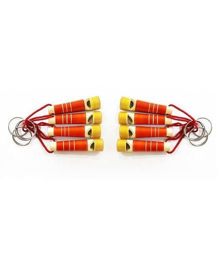 Aatike Wooden Whistle Red - Pack of 8