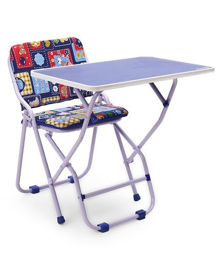 Mothertouch Study Table & Chair - Blue Red