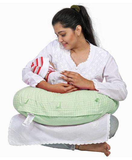 Lulamom Abstract PortableComfortable Nursing Pillow - Green