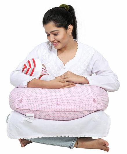 Lulamom Honey Cube PortableComfortable Nursing Pillow - Pink