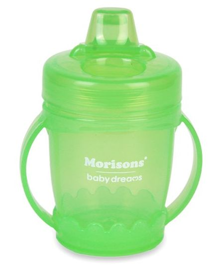 Morisons Baby Dreams Stiffy Hard Spout Sipper Green - 120 ml