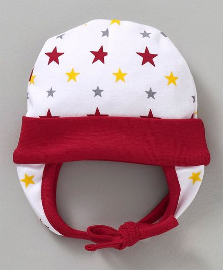 Babyhug Cotton Cap Cat Print White Red Online in India 8ee3e965f976