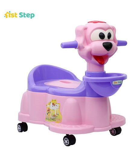 4f11b05a753 5%off 1st Step Baby Potty Chair With Wheels - Pink