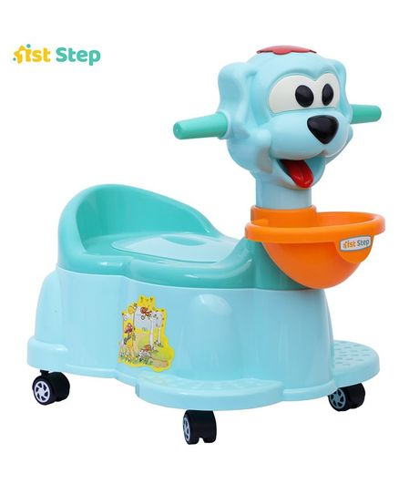 5ef19065e7e 5%off 1st Step Baby Potty Chair With Wheels - Aqua Blue