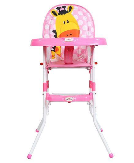 1st Step Convertible High Chair Animal Print - Pink