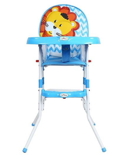 1st Step High Chair Chevron & Lion Design - Blue