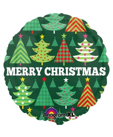 Funcart Merry Christmas Foil Balloon - Green