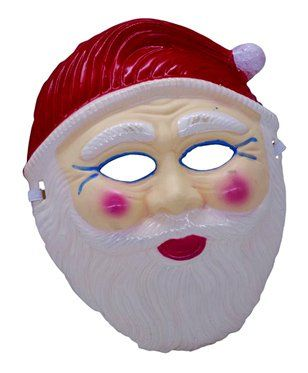 Funcart Santa Claus Face Mask - Red White