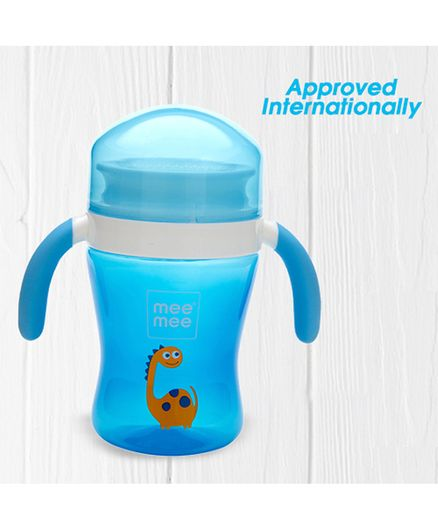 Mee Mee Plastic Easy Grip 360 Degree Trainer Sipper Cup Blue - 240 ml