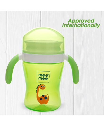 Mee Mee Plastic Easy Grip 360 Degree Trainer Sipper Cup Green - 240 ml