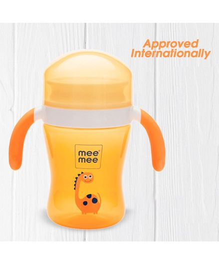 Mee Mee Plastic Easy Grip 360 Degree Trainer Sipper Cup Yellow - 240 ml