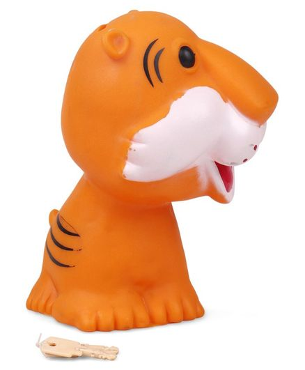 Ratnas Tiger Shaped Money Bank - Orange