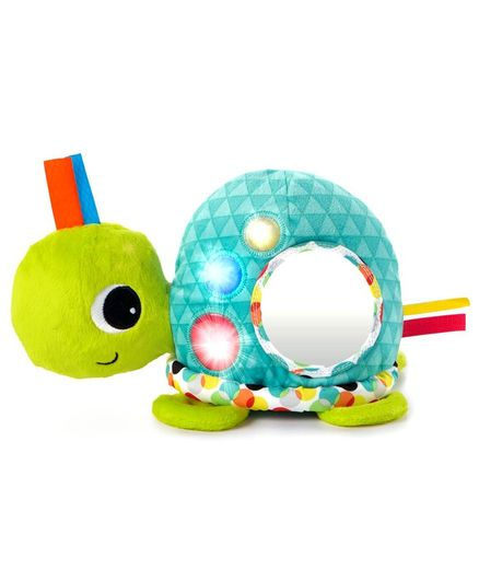 Bright Starts See Me Shine Turtle Musical Plush Toy - Green Blue