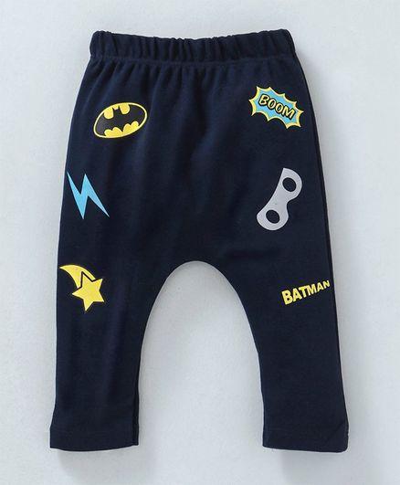 Mom's Love Full Length Diaper Leggings Batman Print - Navy Blue