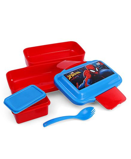 Marvel Spiderman Clip Lock Lunch Box - Red & Blue