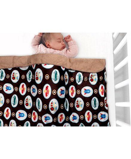 Kassy Pop Organic Microfiber Fleece Blankets - Dark Brown & Beige