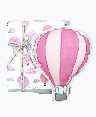 Masilo Up Up & Away Tuck Me In Gift Bundle - Pink