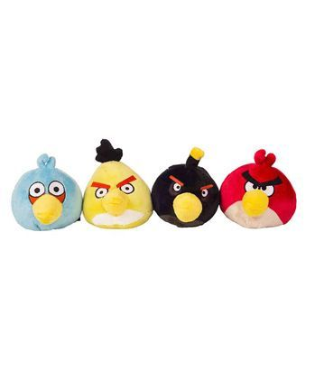 Angry Birds Plush Toy Set of 4 - Multicolour