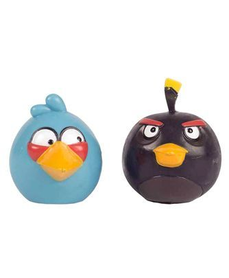 Angry Birds Collecible Figurines Pack of 2 - Blue Black