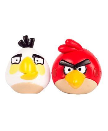 Angry Birds Collectable Figurines White & Red - Pack of 2