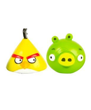 Angry Birds Chuck And Pig Figurines Green & Yellow - Pack of 2