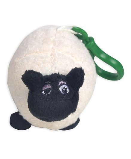 Shaun the Sheep Shaped Plush Key Chain - Black White