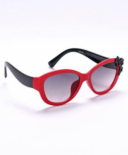 Babyhug Sunglasses Floral Design - Red & Black