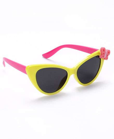 Babyhug Sunglasses Butterfly Design - Yellow & Pink