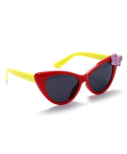 Babyhug Sunglasses Butterfly Design - Red & Yellow