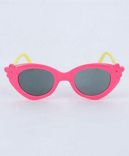 Babyhug Kids Sunglasses Floral Design - Red Yellow