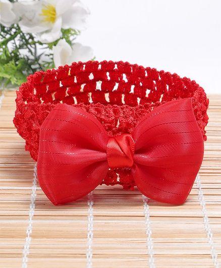 Babyhug Headband Bow Applique - Fuchsia