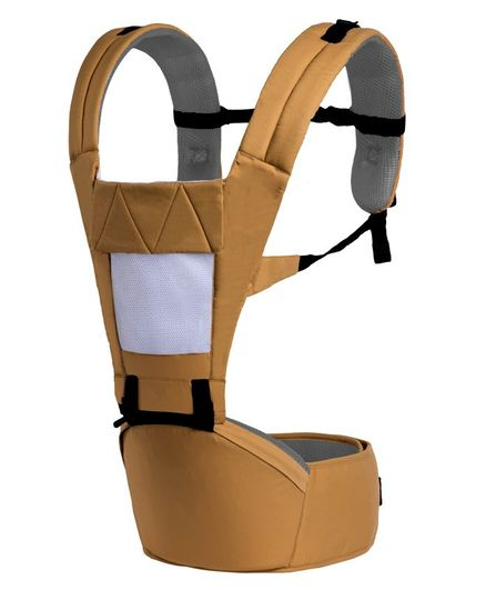 R for Rabbit Upsy Daisy Smart Hip Seat Baby Carrier - Light Brown Cream