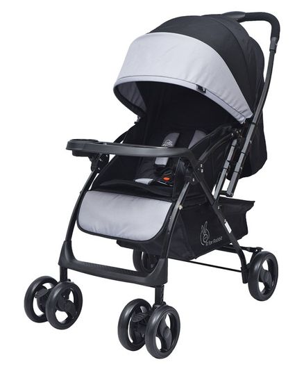 R for Rabbit Cuppy Cake Grand The Smart Elegant Baby Stroller And Pram - Black & Grey