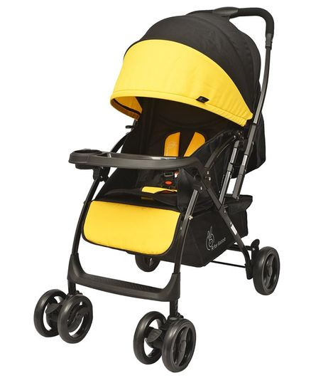 R for Rabbit Cuppy Cake Grand The Smart Elegant Baby Stroller And Pram - Yellow & Black
