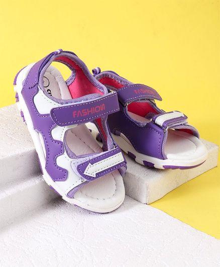 5effc152c991 Buy Cute walk by Babyhug Sandals Fashion Print Purple for Girls (3-3 ...