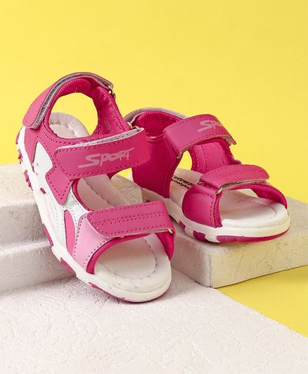 37ec4e09e808d Buy Cute Walk by Babyhug Sandals Sport Print Pink White for Girls (3 ...