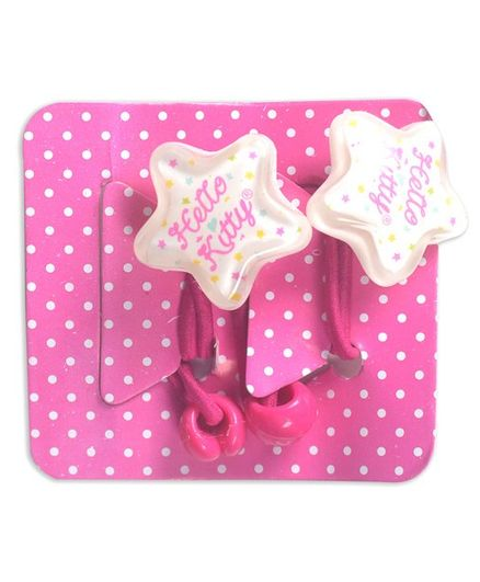 Hello Kitty Star Shaped Hair Ties Pack of 3 - Pink