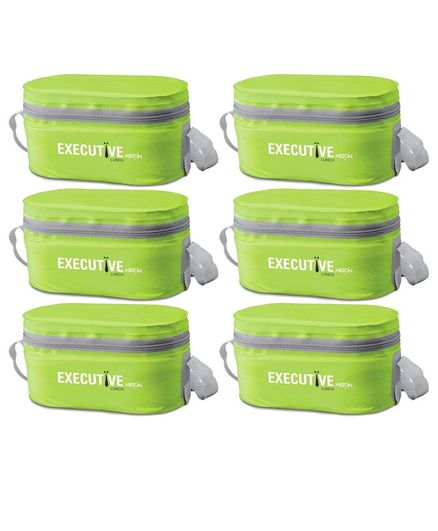 Milton Executive Lunch Box Pack Of 6 - Green