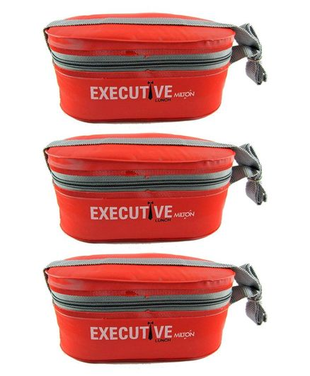 Milton Executive Lunch Box Pack Of 3 - Red