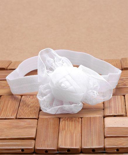 Babyhug Headband Floral Applique - White