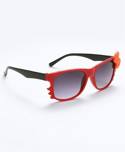 Babyhug Girls Sunglasses Bow Applique - Red
