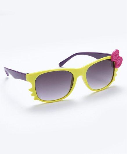 Babyhug Girls Sunglasses Bow Applique - Yellow