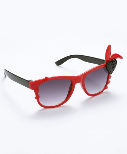 Babyhug Girls Sunglasses Heart Applique - Red