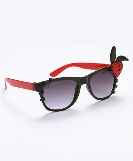 Babyhug Girls Sunglasses Heart Applique - Black